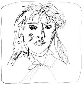 Dessin crayon de Berthe Morisot par Puis de Chavanne