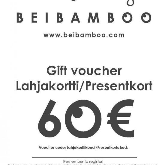 Beibamboo 2015 60 € Gift Voucher