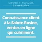Connaissance client à la Sainte-Rosine, ventes en lignes qui culminent (miniature)