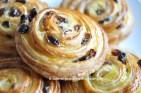Recette des pains aux raisins