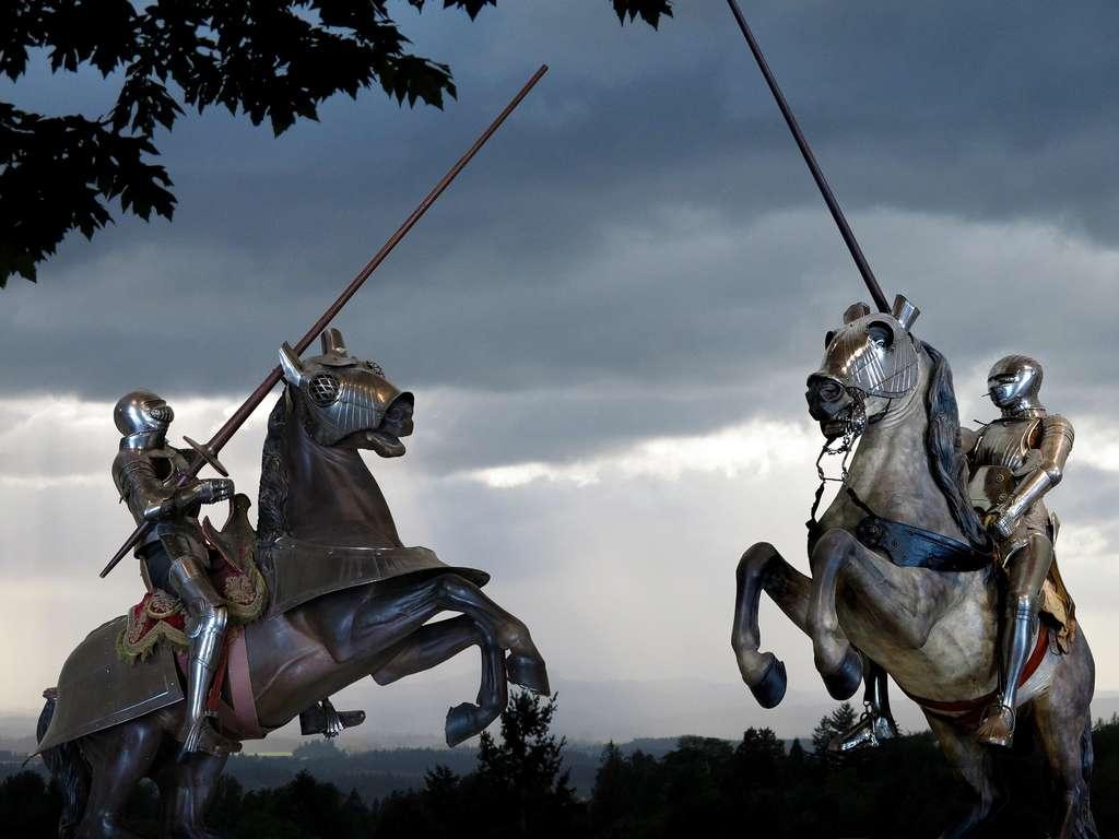 Le roi a eu plusieurs accidents lors de tournois de joute, le plus grave date de 1536. © St. Nick, Shutterstock