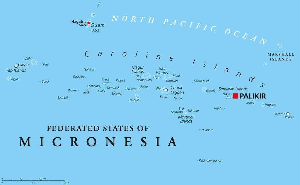 Plusieurs îles de Micronésie ont disparu sous les eaux du Pacifique. © Peter Hermes Furian, Fotolia