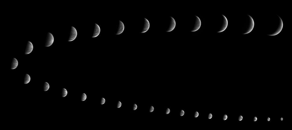 Il est possible de voir les phases de Vénus dans un instrument (lunette, télescope). © Jerry Lodriguss, Catching the Light