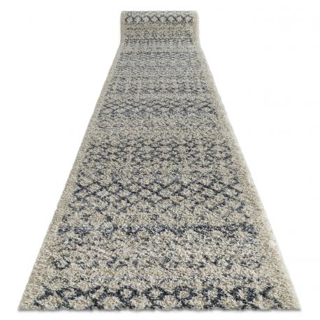 tapis de couloir berber agadir g0522 creme berbere marocain shaggy