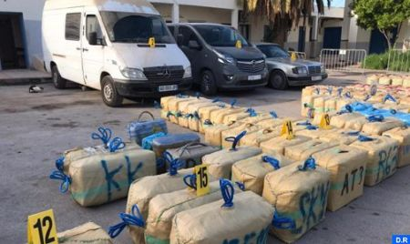 Nador. Tentative de trafic international de drogue avortée, 4,779 tonnes de chira saisies