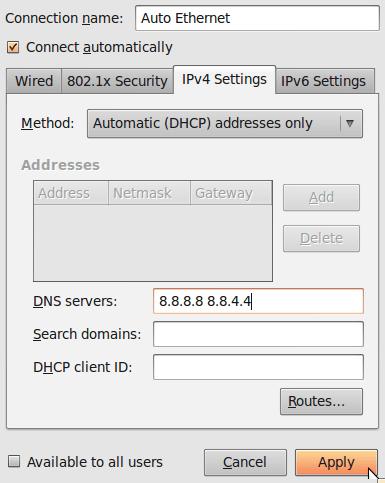 ContournerCensurev2 Domaines DNS DNS Ubuntu 04 fr old Censure du net: Voici comment continuer à visiter les sites interdits