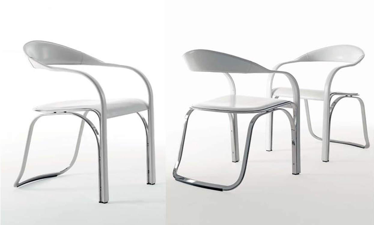 chaise fettuccini par vladimir kagan avec un dosseret