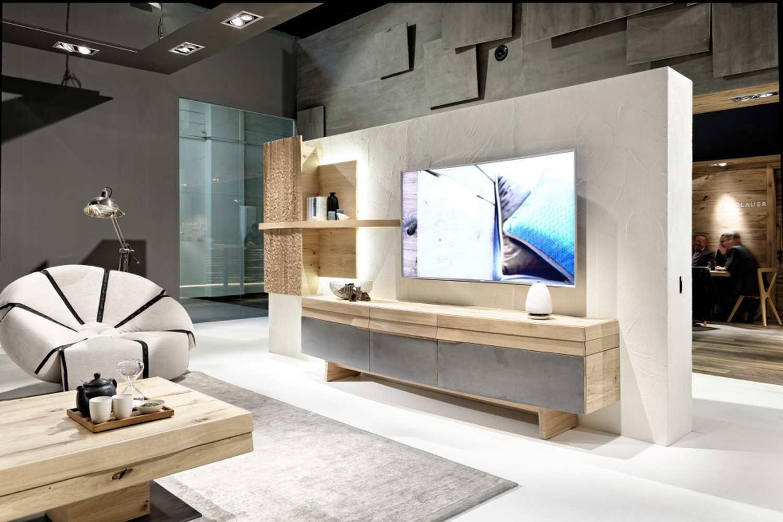 meuble tv design avec facade galbee
