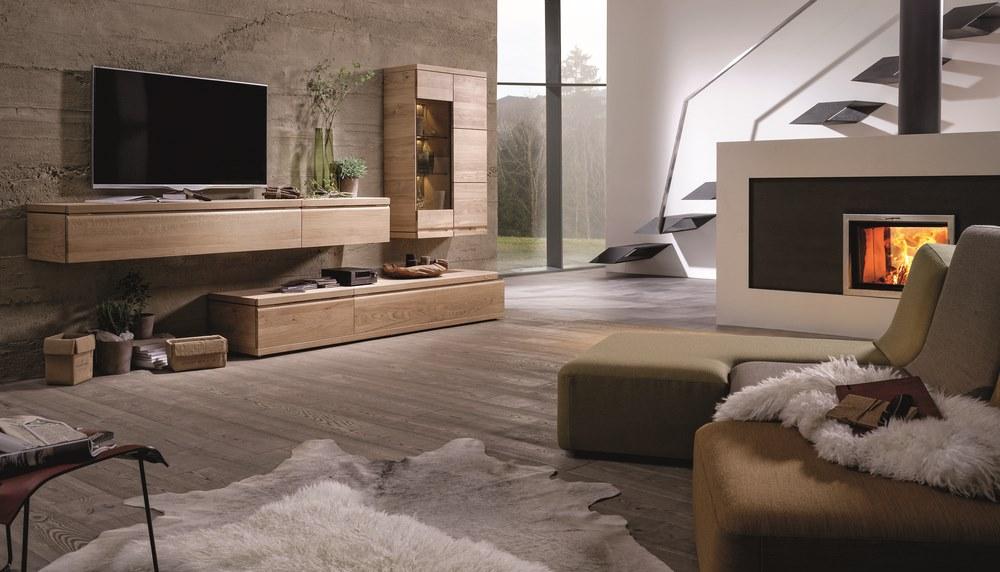 meuble tv en noyer ou en chene loft