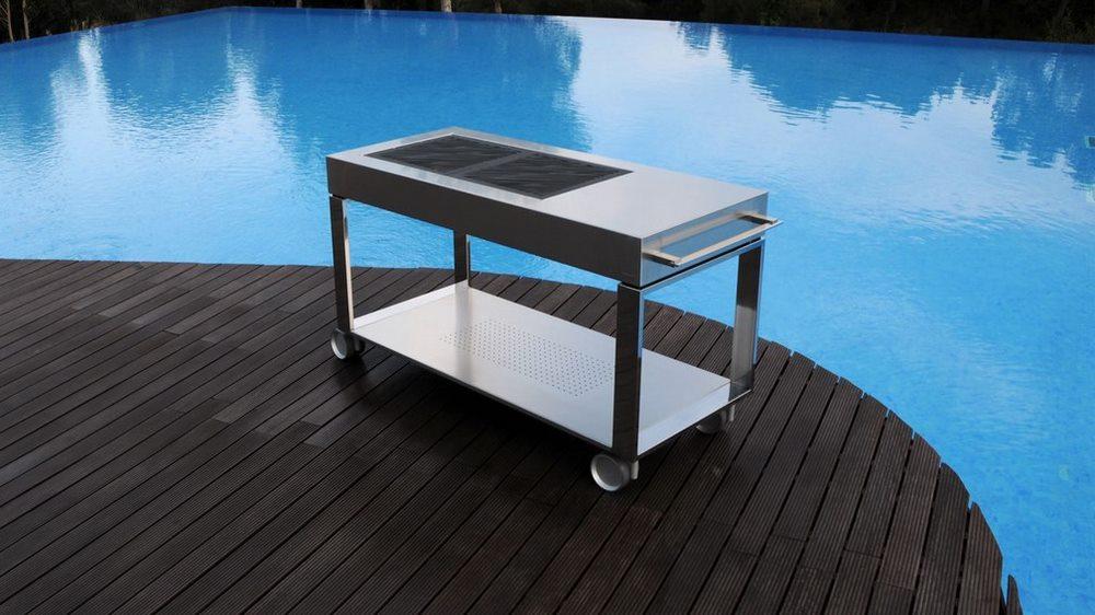 Barbecue Design En Inox Un Barbecue Charbon Haut De