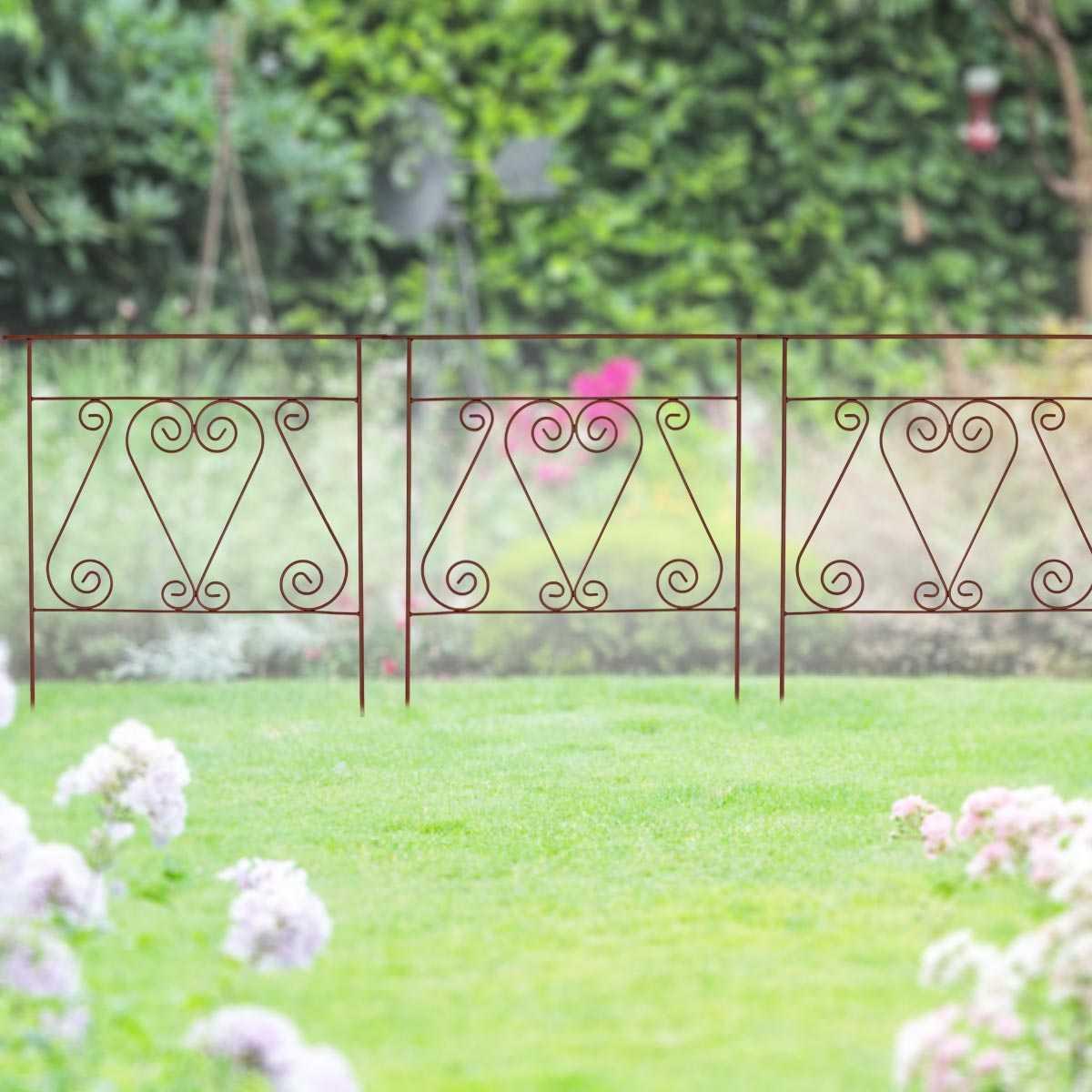 bordure metal acier a volutes 71cm vente au meilleur prix jardins animes