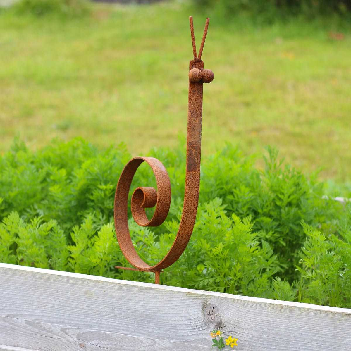 escargot deco de jardin en metal vente au meilleur prix jardins animes