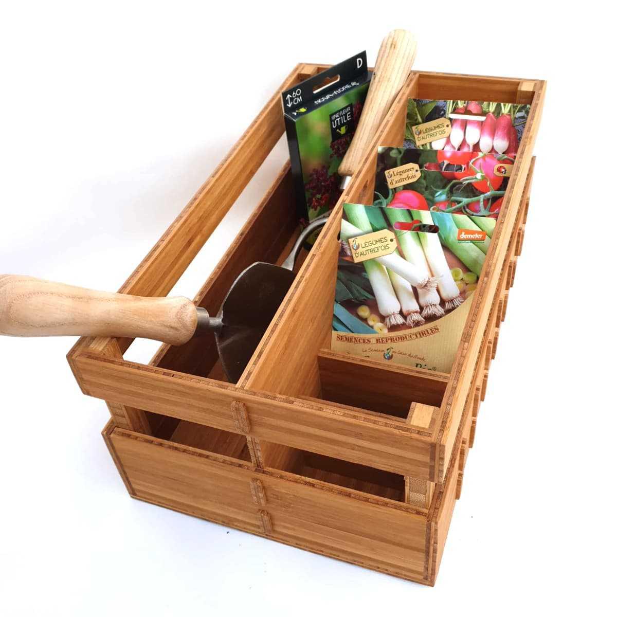 boite de rangement pour sachets de graines et outils de jardin vente au meilleur prix jardins