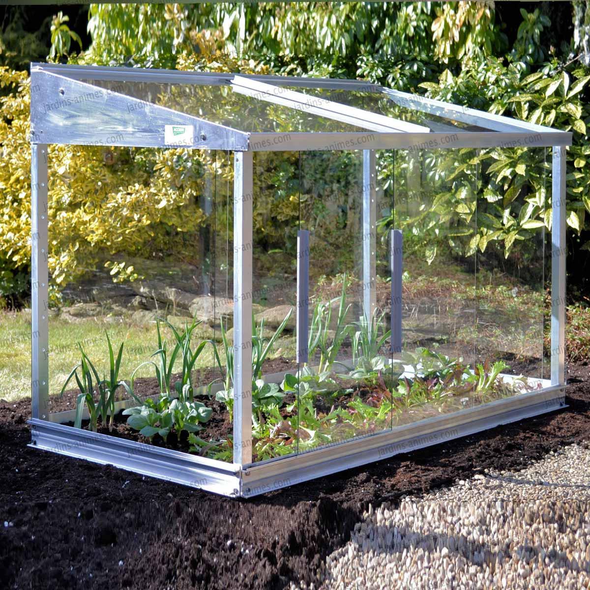 mini serre en verre et aluminium 0 80m2