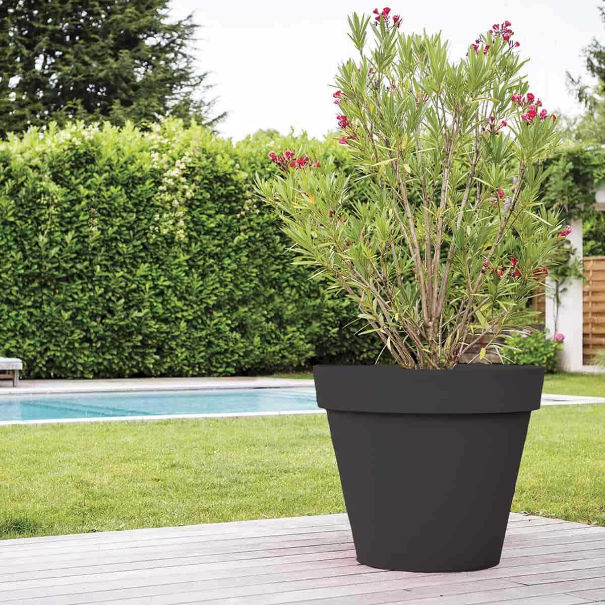 grand pot de fleurs xxl gris diam 100cm x haut 80cm 365l vente au meilleur prix jardins