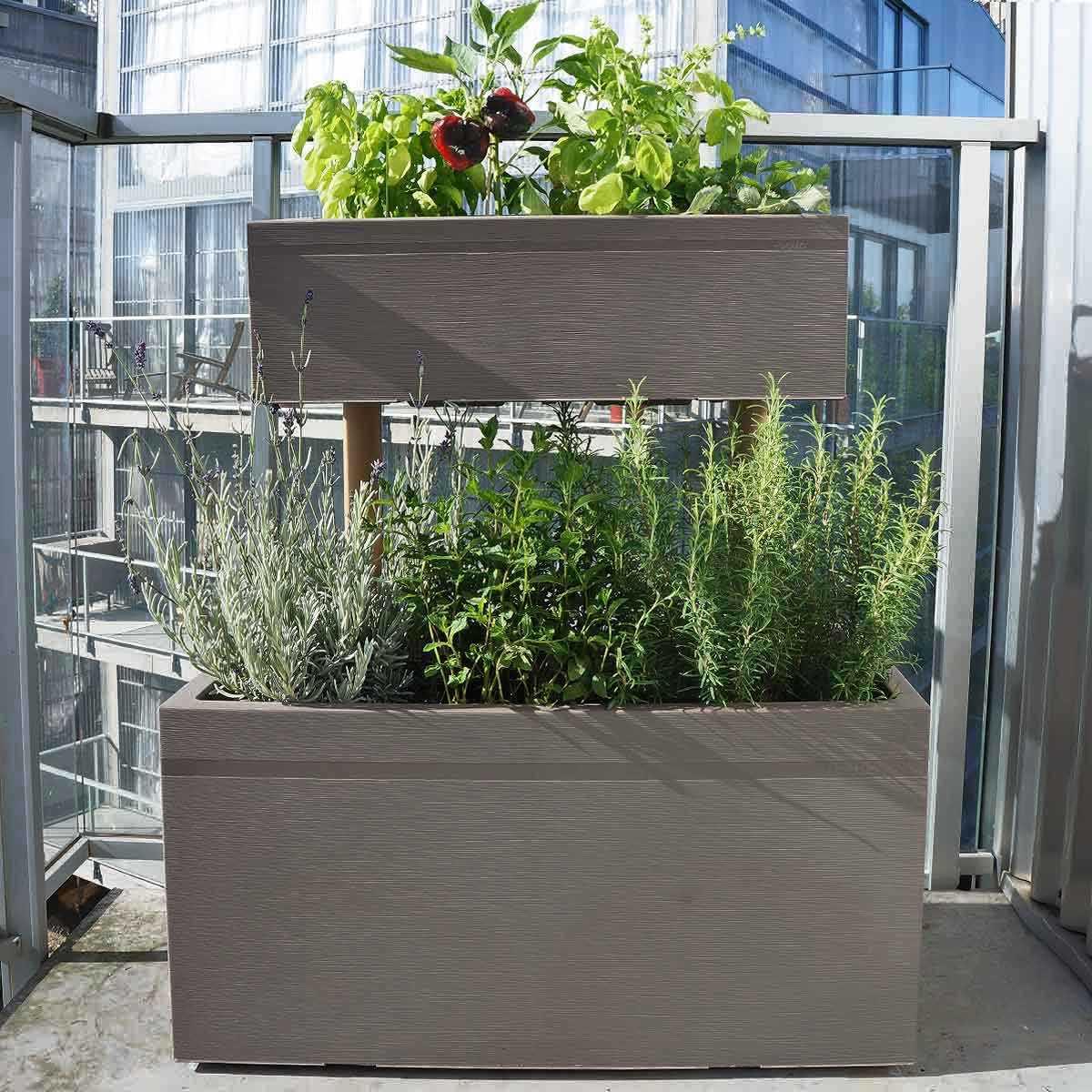 jardiniere haute superposee pour balcon vente au meilleur prix jardins animes