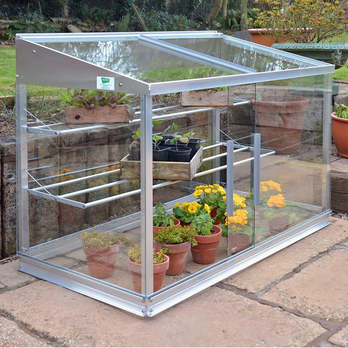 mini serre en verre et aluminium 0 80m2 vente au meilleur prix jardins animes