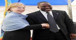 """Photo d'hillary clinton et """"Joseph Kabila""""... visage souriant."""