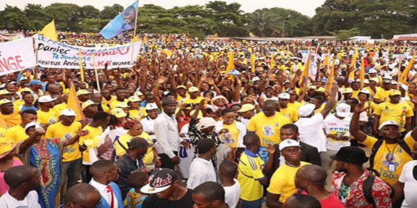 Photo des militants du PPRD, un parti politique en RDC.