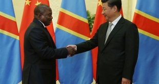 """Rencontre entre le President chinois Jinping et son homologue congolais """"Kabila"""", Sep. 2015"""