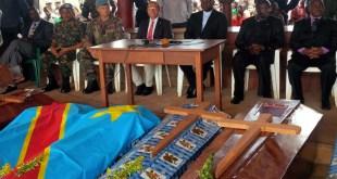 Les cercueils des victimes des Massacres de Beni, Est de la RDC