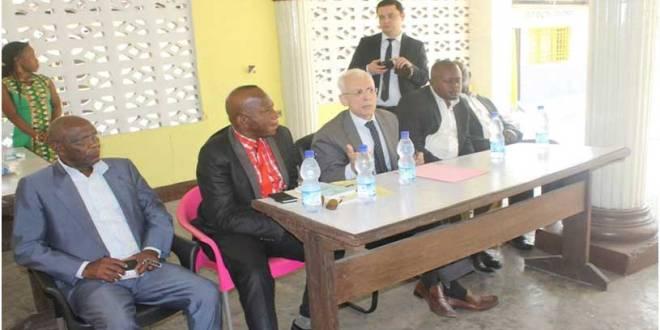 Ambassadeur de Turquie en RDC, Bekir Uysal - second right.