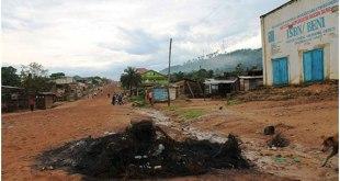 Une rue a Beni, Nord-Kivu, RDC.
