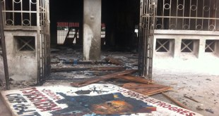 Siege de l'UDPS incendié