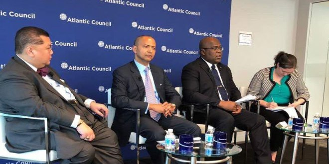 Moise KATUMBI et Fatshi, invite a Atlantic Council, mai 2018