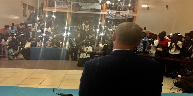 Moise KATUMBI devant ses partisans a Kigali, Rwanda.