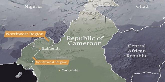 Carte geographique du Camerron.