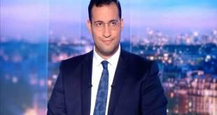 Alexandre Benalla, les explications en costume et cravate, lors d'un entretien sur TF1, JT de 20h.