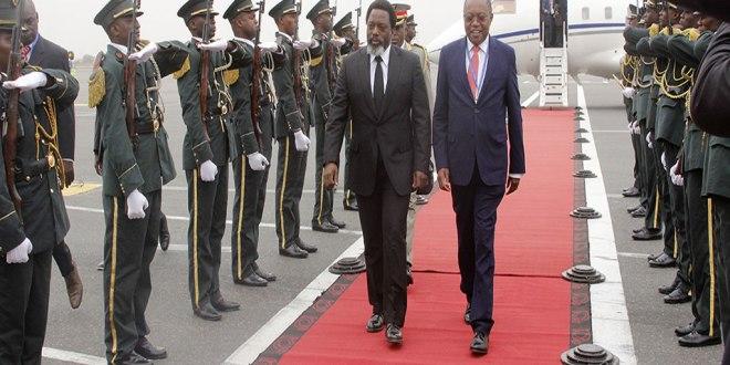 Joseph KABILA, arrivée en Angola, Aout 2018.
