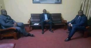 Fatshi, Kamerhe et Bemba, avant une reunion privée.