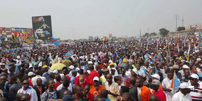 Meeting de l'Opposition, Kinshasa.