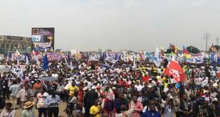 Meeting de l'Opposition politique, a Kinshasa.