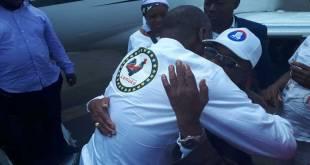 Lubumbashi : Fayulu accueilli à son arrivée par Kyungu.