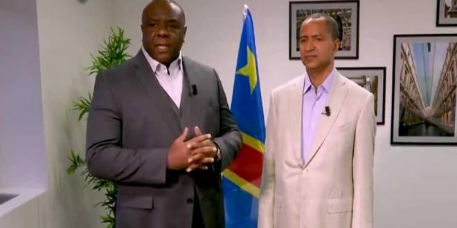 Jean-Pierre BEMBA et Moise KATUMBI CHAPWE, en train d'enregistre un message soutenant Martin FAYULU, pour la présidentielle 2018 en RDC.