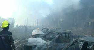 Incendie de l'entrepot de la CENI-RDC.