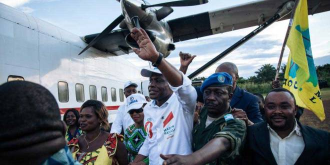 Martin FAYULU MADIDI dit Mafa, lors de son arrivée à Beni