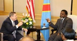 Joseph KABILA et le nouveau Ambassadeur des USA en RDC.
