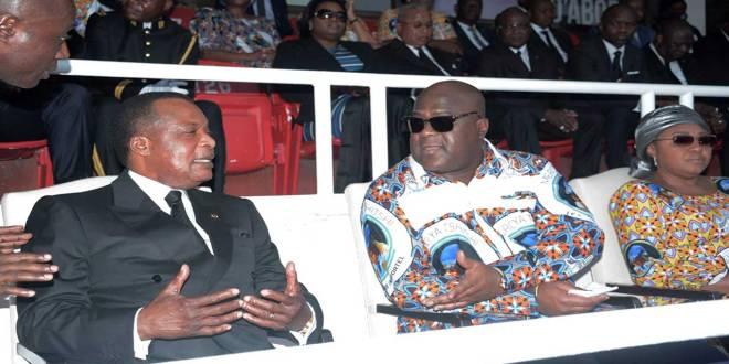 Obseques de Tshisekedi - Les Presidents Sassou et Fatshi, entrain de causer.