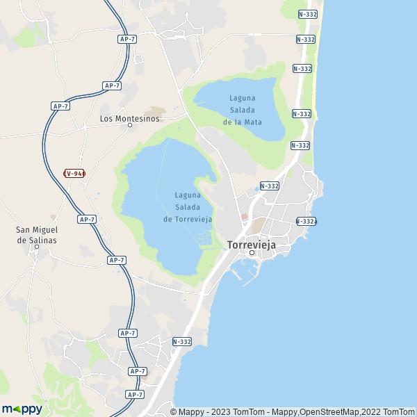 Plan Torrevieja Carte De Torrevieja 03181 Et Infos