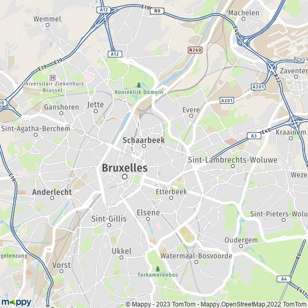 Plan Bruxelles Carte De Bruxelles 1000 Et Infos Pratiques