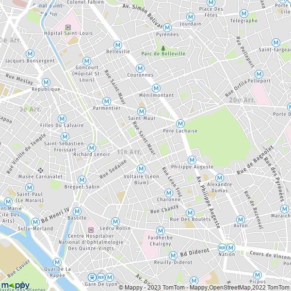 Plan Paris Carte De Paris 75011 Et Infos Pratiques