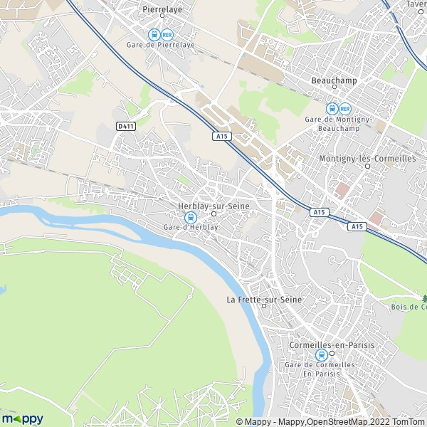carte de herblay sur seine 95220