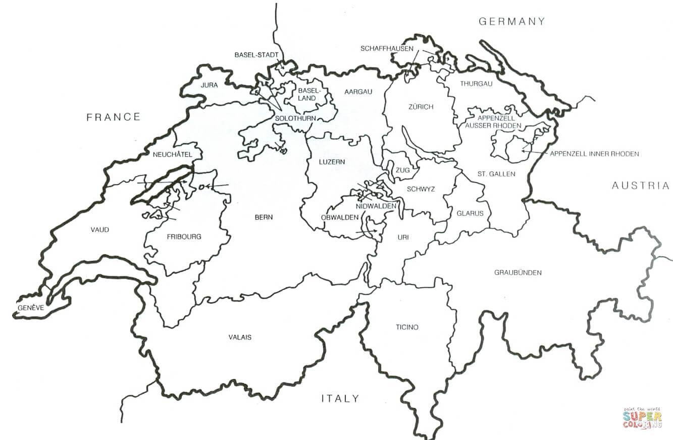 Suisse Carte De Contour