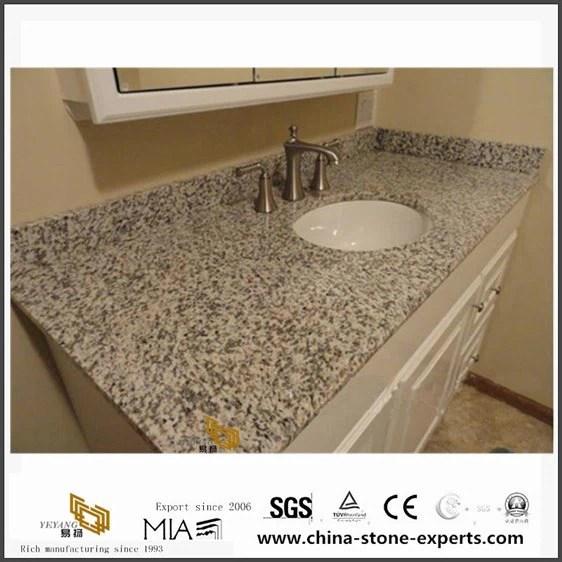 vanite de granit blanc dessus avec lavabo pour petite salle de bains design de peau de