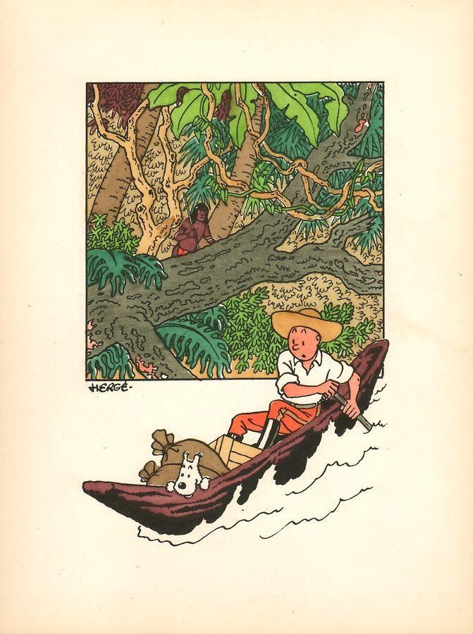 Litho L'oreille cassée Tintin, Hergé, Livre d'art