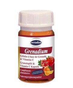 Le complément alimentaire naturel Grenadium, formulé par le laboratoire Phytomisan, vous fait profiter de l'explosion de bienfaits de la grenade.